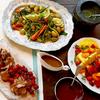 骨付きラムのロースト、温野菜サラダ、フルーツのチョコ・フォンデュの30分レシピ(byジェイミー)