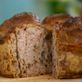 ロックフォールチーズとくるみ入りの、ライ麦入りパン(ポールさんのレシピ)
