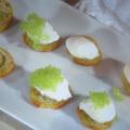 ポーチドエッグ(うずらの卵でオードブル/普通のタマゴ)